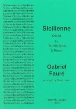 Gabriel Fauré - Sicilian - Sheet Music - di-arezzo.co.uk