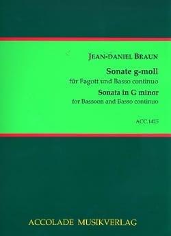 Jean-Daniel Braun - Sonata in G minor - Sheet Music - di-arezzo.com