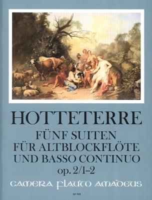 Cinq suites pour flûte alto et basse continue op. 2, Volume 1 : 1-2 - laflutedepan.com