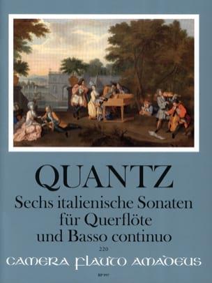 Johann Joachim Quantz - Six sonates italiennes pour flûte et basse continue - Partition - di-arezzo.fr