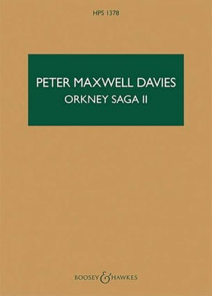 Davies Peter Maxwell - Orkney Saga II - Partition - di-arezzo.fr