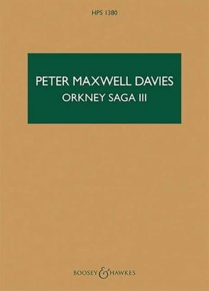 Davies Peter Maxwell - Orkney Saga III - Sheet Music - di-arezzo.co.uk