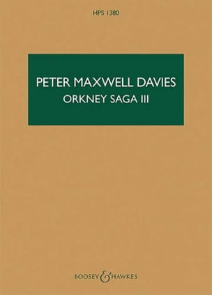 Orkney Saga III Davies Peter Maxwell Partition laflutedepan