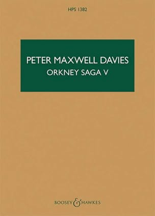 Davies Peter Maxwell - Orkney Saga V - Partition - di-arezzo.fr