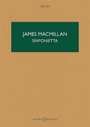 James MacMillan - Sinfonietta - Partition - di-arezzo.fr