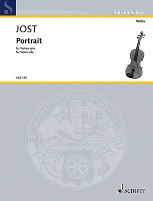Portrait Christian Jost Partition Violon - laflutedepan