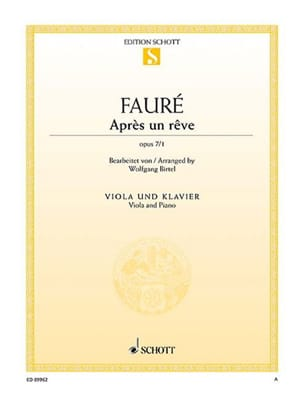 Gabriel Fauré - After a dream - Sheet Music - di-arezzo.com