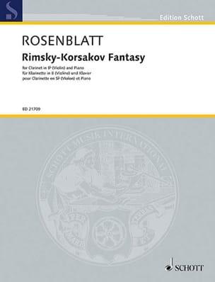 Alexander Rosenblatt - Rimsky-Korsakov Fantasy - Partition - di-arezzo.fr