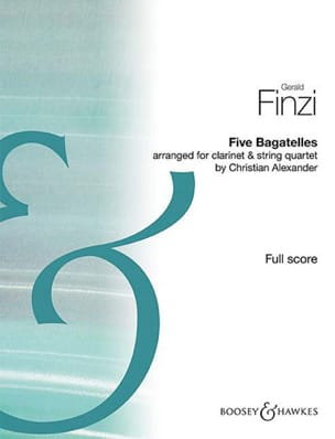 Five Bagatelles Gerald Finzi Partition Grand format - laflutedepan