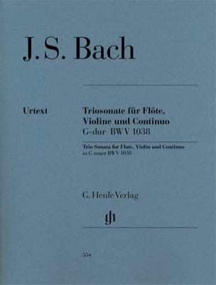 Johann Sebastian Bach - Sonate en trio en Sol majeur BWV 1038 pour flûte, violon et basse continue - Partition - di-arezzo.fr