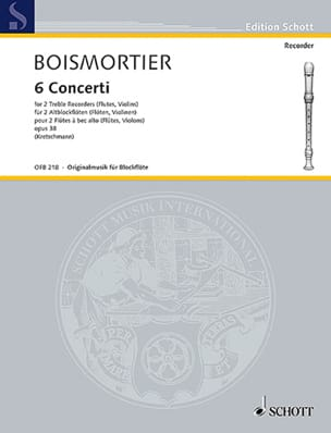 BOISMORTIER - 6 Concerti, opus 38 - Sheet Music - di-arezzo.co.uk