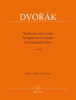 DVORAK - String sextet in the Major op. 48 - stimmen - Sheet Music - di-arezzo.com