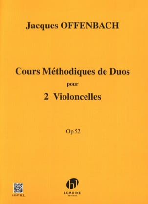 Jacques Offenbach - Methodical course of duets for 2 cellos op. 52 - Sheet Music - di-arezzo.com