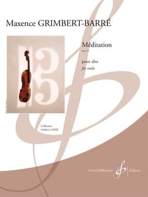 Maxence Grimbert-Barré - Méditation - Partition - di-arezzo.fr