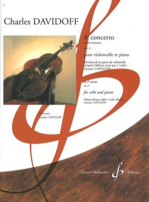 Charles Davidoff - 4éme concerto en mi mineur - opus 31 - Partition - di-arezzo.fr