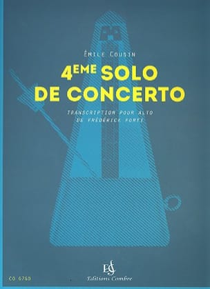 Emile Cousin - 4th Concerto Solo - Sheet Music - di-arezzo.co.uk