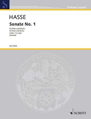 Sonata n° 1 en sol majeur - Johann Adolf Hasse - laflutedepan.com
