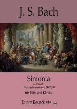 Sinfonia - BACH - Partition - Flûte traversière - laflutedepan.com