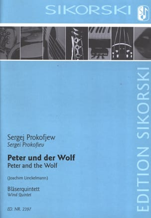 Serge Prokofiev - Peter and the Wolf - Quintet à Vents - Partitura - di-arezzo.it