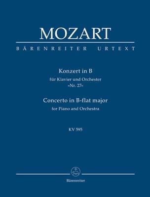 MOZART - Klavierkonzert Nr. 27 B-hard KV 595 - Partitur - Sheet Music - di-arezzo.co.uk
