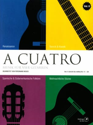 A Cuatro - Music For 4 Guitars - Volume 2 - laflutedepan.com