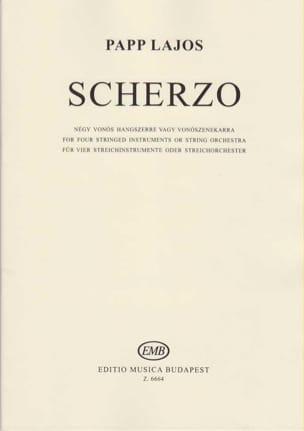 Lajos Papp - Scherzo - score & parts - Partition - di-arezzo.fr