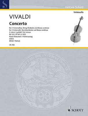 VIVALDI - Concerto in G minor, RV 531 - Sheet Music - di-arezzo.com