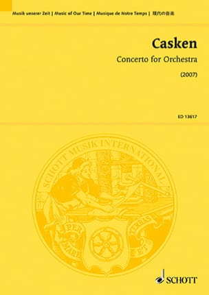 John Casken - Concerto pour Orchestre - Partition - di-arezzo.fr