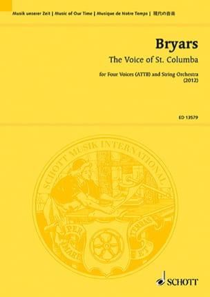 The Voice of St. Columba Gavin Bryars Partition laflutedepan
