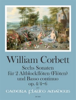 William Corbett - 6 Sonates op. 4 - Volume 2 : Sonatas 4 - 6 - Partition - di-arezzo.fr