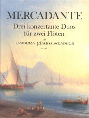 Saverio Mercadante - Trois Duos Concertants pour 2 Flûtes - Partition - di-arezzo.fr