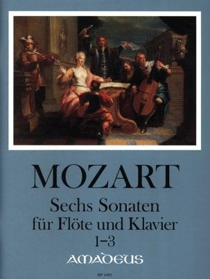 MOZART - 6 Sonates pour Flûte et Piano - Volume 1 : Sonatas 1-3 - Partition - di-arezzo.fr