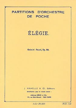 Elégie, op. 24 - Conducteur FAURÉ Partition laflutedepan