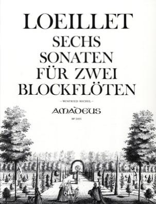 6 Sonaten - LOEILLET - Partition - Flûte à bec - laflutedepan.com
