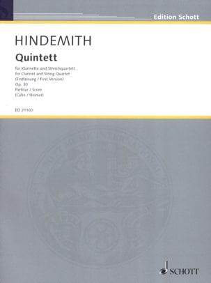 Paul Hindemith - Quintette, op. 30 - Partition - di-arezzo.fr