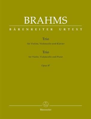 Johannes Brahms - Trio for violin, cello and piano op. 87 - Sheet Music - di-arezzo.co.uk