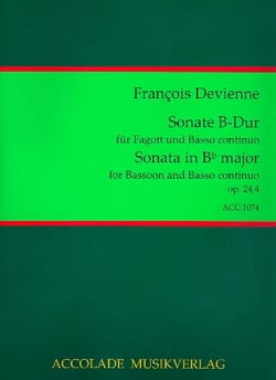 Sonate op. 24 n° 4 - Basson/Piano DEVIENNE Partition laflutedepan