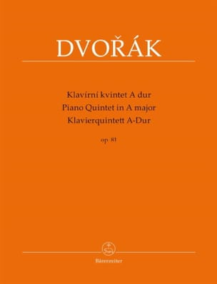 DVORAK - Quintet with piano in A major, op. 81 - Sheet Music - di-arezzo.co.uk