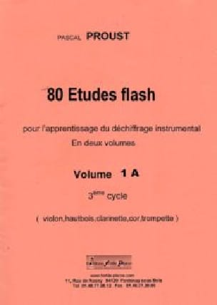 80 Études Flash vol 1A - Pascal Proust - Partition - laflutedepan.com