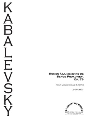 Dimitri Kabalevski - Rondo in memory of Prokofiev, Op. 79 - Sheet Music - di-arezzo.com