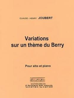 Variations sur un thème du Berry Claude-Henry Joubert laflutedepan