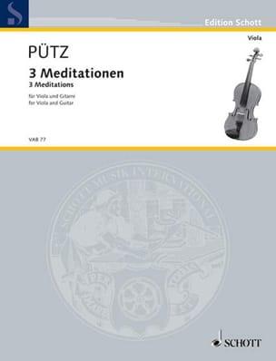 3 Méditations - Eduard Pütz - Partition - Duos - laflutedepan.com