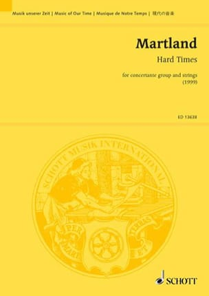 Steve Martland - Hard Times - Partition - di-arezzo.fr