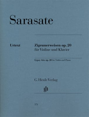 Pablo de Sarasate - Bohemian Airs op. 20 for violin and piano - Sheet Music - di-arezzo.co.uk