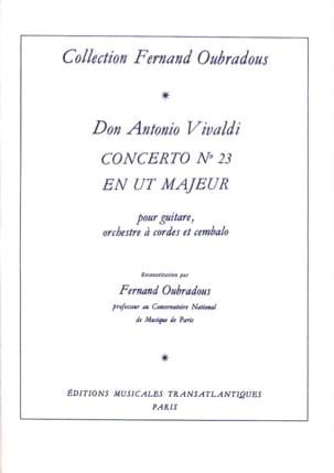 Concerto n° 23 en Ut majeur - VIVALDI - Partition - laflutedepan.com