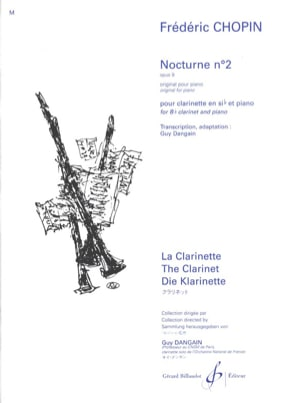 Nocturne Opus 9, n° 2 CHOPIN Partition Clarinette - laflutedepan