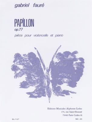 Papillon op. 77 Gabriel Fauré Partition Violoncelle - laflutedepan