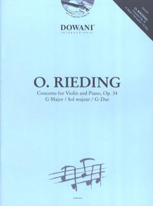 Oskar Rieding - Concerto for violin and piano in G major, op. 34 - Sheet Music - di-arezzo.co.uk