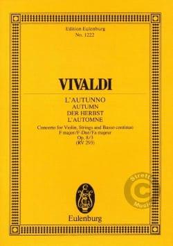 VIVALDI - Die vier Jahreszeiten, op. 8/3 - Partition - di-arezzo.fr