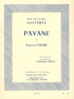 Pavane op. 50 -2 guitares FAURÉ Partition Guitare - laflutedepan